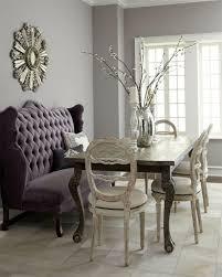purple dining room ideas purple tufted settee dining room sunburst mirror kitchen