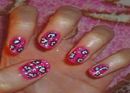 nail designs girly pink heart short nail art cute and easy nail