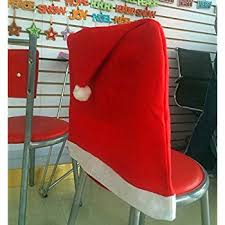 Chair Seat Covers Pack Of 4 Red Santa Hat Dining Chair Seat Covers Xmas Christmas