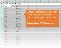 Delete All Rows From Table Prevent Excel From Freezing Or Taking A Long Time When Deleting Rows