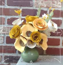 fall paper flowers fall centerpiece rustic wedding gift idea fall