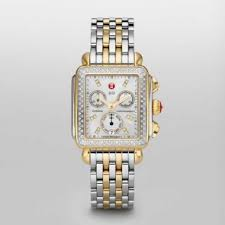 deco 16 two tone 18 michele watches free shipping returns