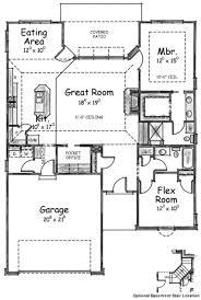 european style house plan 2 beds 2 baths 1490 sq ft plan 20