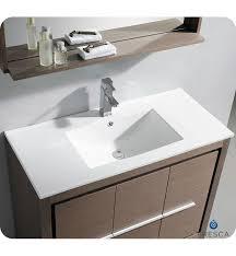 fresca allier 40 modern bathroom vanity grey oak finish