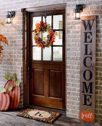 Fall Door Decorations Halloween Best 25 Outdoor Thanksgiving Ideas
