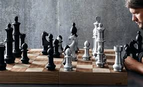 buy chess set the giant aluminum chess set fit for display cool material large