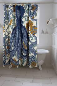 Bathroom Shower Curtains Ideas by Fabric Bathroom Shower Curtain Ideas Double Blue Fabric Shower
