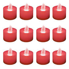 Tea Light Candles Lumabase Bright White Non Flickering Led Tealights Box Of 12