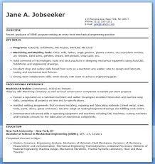 sample resume mechanical engineer mechanical engineering resume