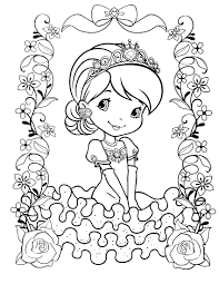 strawberry shortcake halloween coloring pages eson me