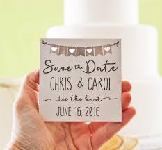Rustic Save The Date Magnets Wood Save The Date Magnet Wedding Announcement Wood Save The