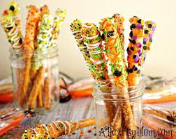 gourmet halloween pretzel rods halloween recipes easy halloween