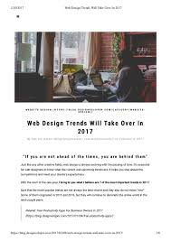 Popular Trends 2016 by Web Design Trends Will Take Over In 2017