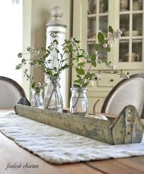 dining table dining room table silk flower arrangements dried