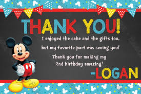 mickey mouse thank you cards novel concept designs disney mickey mouse blue banner