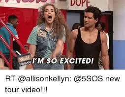 Im So Excited Meme - i m so excited rt new tour video meme on esmemes com