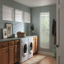 decor wooden cabinet with white faux wood blinds also laminate