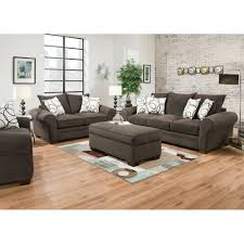 Used Living Room Furniture Sofas Center Coaster Furniture Grey Microfiber Studded Sofa Used