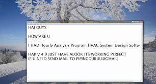 Home Hvac Design Software Carrier U0027s Hourly Analysis Program Hvac System Design Software Hap