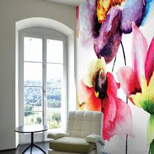 floral forest wall murals graham brown watercolour flora wall mural
