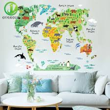 aliexpress com buy world map wall sticker removable pvc vinyl aliexpress com buy world map wall sticker removable pvc vinyl flora and fauna decal art mural home decorative picture diy poster for bedroom hotel from