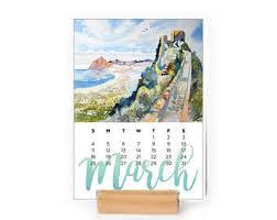 Small Easel Desk Calendar Easel Calendar Etsy