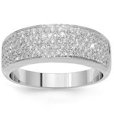 Amazon Wedding Rings by Amazon Com 18k White Gold Womens Diamond Wedding Band 0 81 Ctw