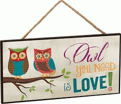 Owl Canisters For The Kitchen Amazon Com Owl You Need Is Love Two Owls On Branch Decorative