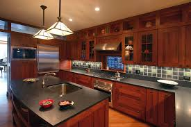 photos of kitchens with cherry cabinets kitchen cherry cabinets kitchen craftsman with ceiling lighting