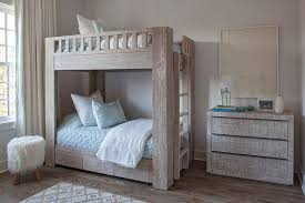 Bunk Bed Sheet Rustic Gray Bunk Bed With Storage Drawers Cottage Boy S Room