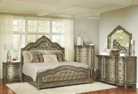 Seville Bedroom Furniture by Seville Translucent Platinum Upholstered Panel Bedroom Set From
