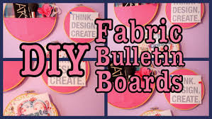 Decorative Cork Boards For Home Diy Easy Fabric Bulletin Boards Youtube