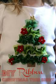 huckleberry love ribbon christmas tree shirt tutorial