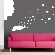 flower butterfly wall stickers home decor removable diy people blowing love wall decals removable sticker home decoration free shipping wallpaper
