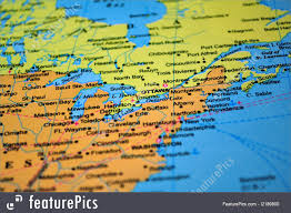 Map Of Canada Signs And Info North America Map Of Canada The United States Usa