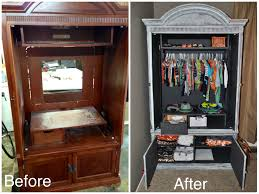 repurposed refinished tv armoire for baby u0027s clothes for my