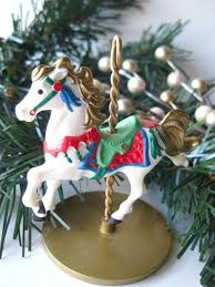 snow carousel hallmark keepsake ornament