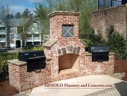 Building An Outdoor Brick Fireplace by Brick Fireplace Outdoor Living Patio Www Arnoldmasonryandl U2026 Flickr