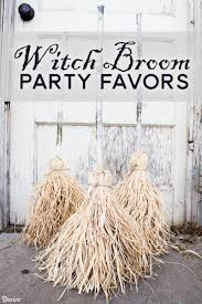 diy witch broom halloween favors darice