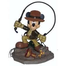 disney medium figure statue mickey mouse as indiana jones figurine new