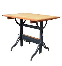 Iron Drafting Table Oak Maple And Cast Iron Drafting Table By Hamilton C1930