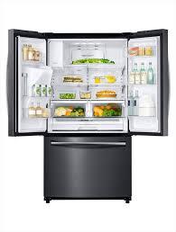 Samsung French Door Refrigerator Cu Ft - samsung 24 6 cu ft french door refrigerator in black stainless