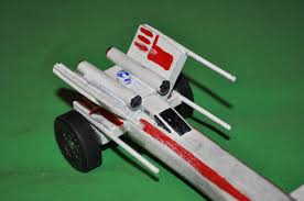 wanted his car to look like a star wars x wing alll riiiighty