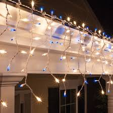 white christmas lights christmas icicle light 150 clear blue icicle lights white wire