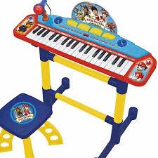tastiera pianola organo microfono sgabello gioco paw patrol