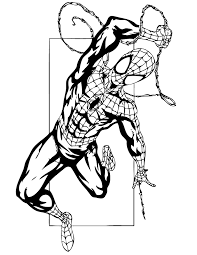 spider outline coloring