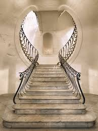 keyhole staircase in palazzo albertini naples italy built in