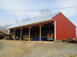 pole barn shed building type 3 sided pole barn with shed style