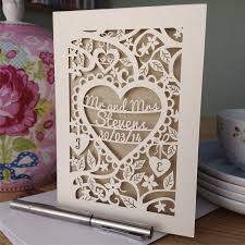 weeding card personalised papercut wedding card by pogofandango