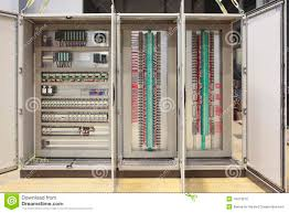 plc and barriers panel board stock photo image 18413870